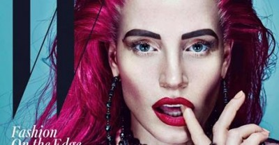 Jessica Chastain Transforms for W's November Cover