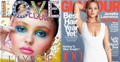 First Look at February's Hautest Covers – JLaw, Lily Rose, and More