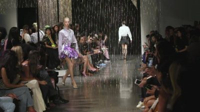 Relive the crystal-dripped#AREASeptember 2019#NYFWrunway